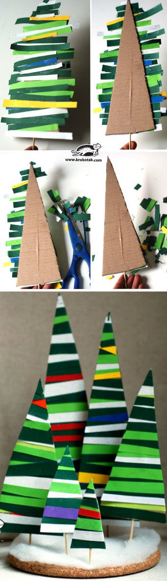 Paper Strips Fir Tree