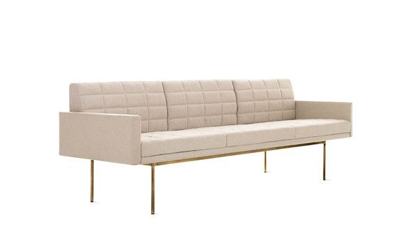 Tuxedo Sofa With Bronze Legs / Bassam Fellows For Geiger