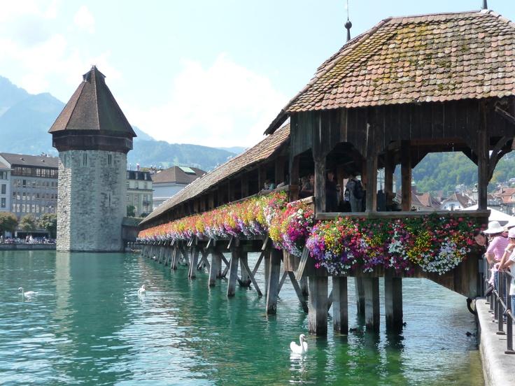 Club Tour European Summer 2011 - Chapel Bridge Lucerne Switz