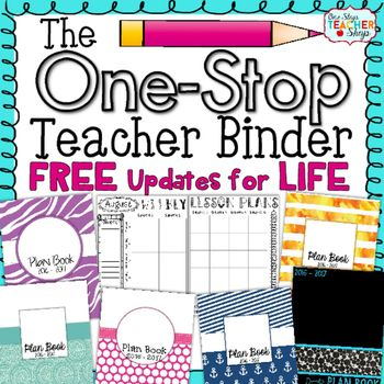 Best-Selling Teacher Binder and Teacher Planner on TpTThis Teacher Binder & Plan Book (1,200+ pages) is Editable and Customizable!  You will be getting a plan book that offers lots of great resources to use throughout the year while keeping you well organized in a stylish way! 2016-2017 Updates are NOW Available!!!