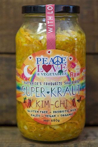 Our Kimchi is a vibrant and tantalizing mix of flavors that will get your taste buds dancing and your digestive system smiling! A delicious base of cabbage, carrot and sweet potato offers superior fiber, beta carotene, manganese and antioxidant properties. #peaceloveandvegetables#raw#vegan
