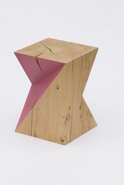 Hamon Damien; Oak 'Cubes' Table/Stool, 2012.