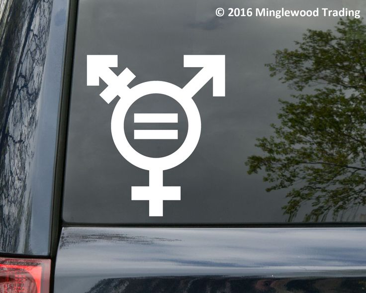 Transgender Equality Symbol Sign vinyl decal sticker Gender Male Female *Free Shipping* by MinglewoodTrading on Etsy https://www.etsy.com/listing/490590667/transgender-equality-symbol-sign-vinyl