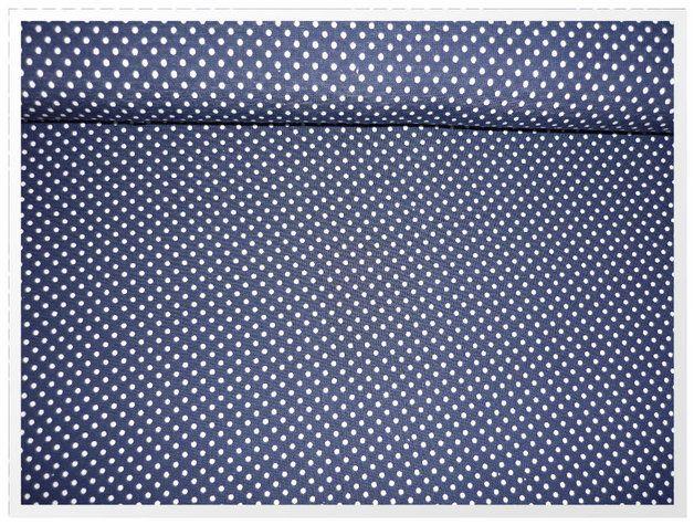 Stoff Punkte - Stenzo Stretch - Jersey mini-Punkte marine/weiß - ein Designerstück von dieZauberfee bei DaWanda
