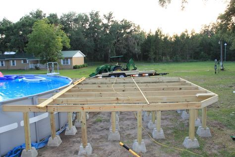 intex pool with deck | New Intex 26' Ultra Frame Owners • Above Ground Pools • Trouble ...