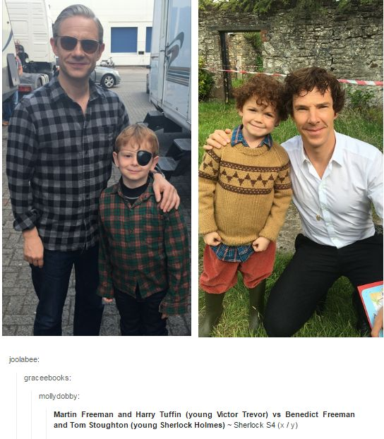 But why does little Victor LOOK LIKE JOHN WAS THAT ON PURPOSE //// I also think whoever wrote the text under the pic got a little ship in their text. Benedict Freeman??