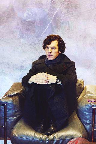 Benedict Cumberbatch: His name is better than your - wallpaper: SherlockBBC iPhone34g  icon