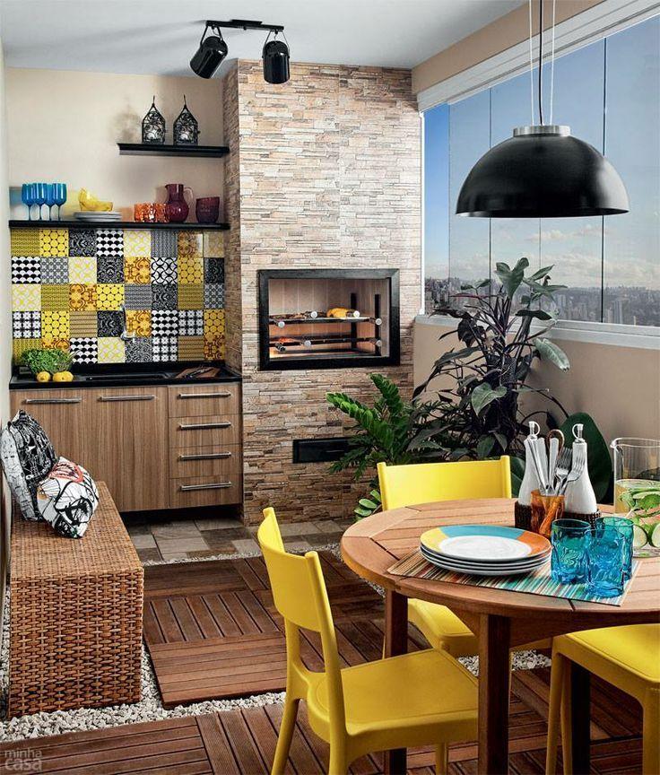 Aprenda algumas dicas de decoração para varanda gourmet de apartamento pequeno e…