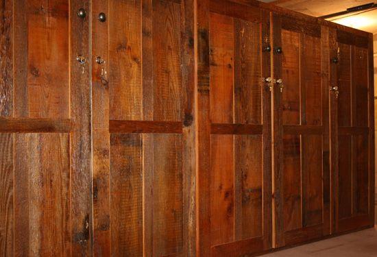 Barn wood cabinets kitchen pinterest for Barn kitchen cabinets