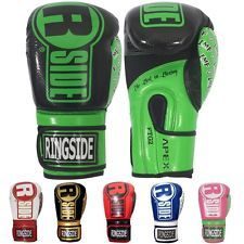 """With Ringside's Apex Flash Sparring Gloves, you can add a bit of flash to your workout, while a full 2 ¼"""" of shock absorbing IMF Tech padding helps keep you protected.  Features:  Made of durable synthetic leather for easy cleaning. The gloves include a 3 ¼"""" wrap around, hook & loop closure for both support and convenience. A mesh palm and anti-microbial inner liner combine to keep the hand cool and comfortable. Complete with an attached thumb for added safety."""