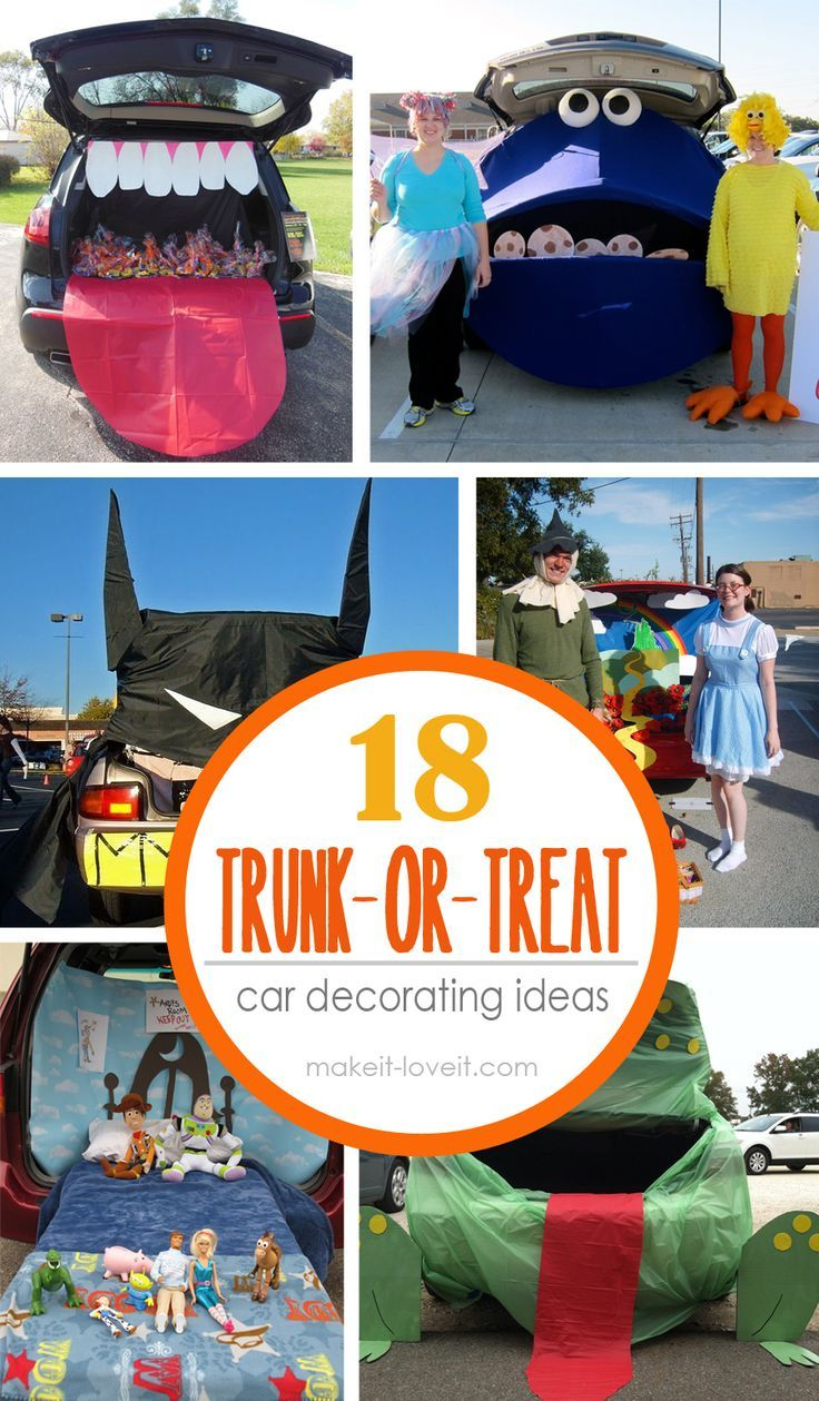 18 trunk or treat car decoration ideas make it and