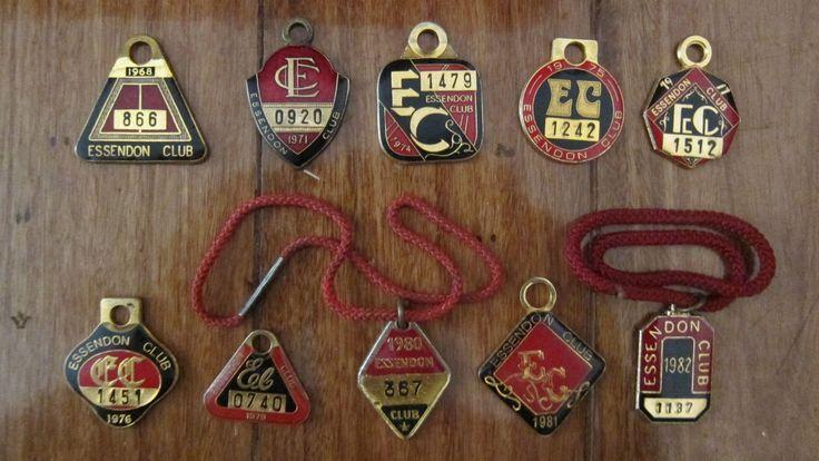10 AFL Essendon Football Club Badges in Very Good Condition.   eBay!