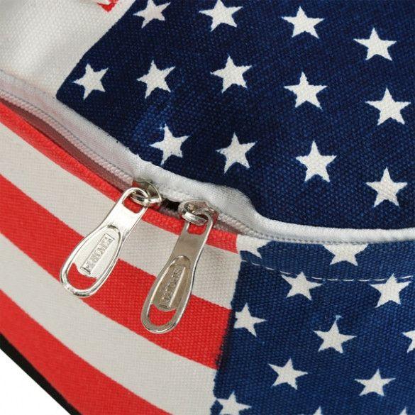 Fashion Unisex Canvas Punk School Book Campus Bag Backpack UK US Flag