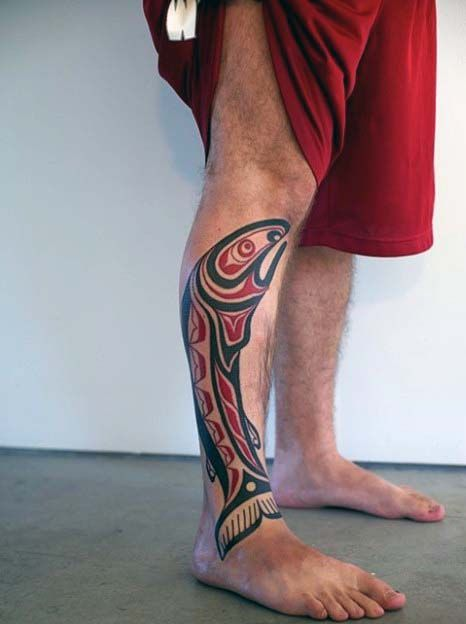 30 Tribal Fish Tattoo Designs For Men