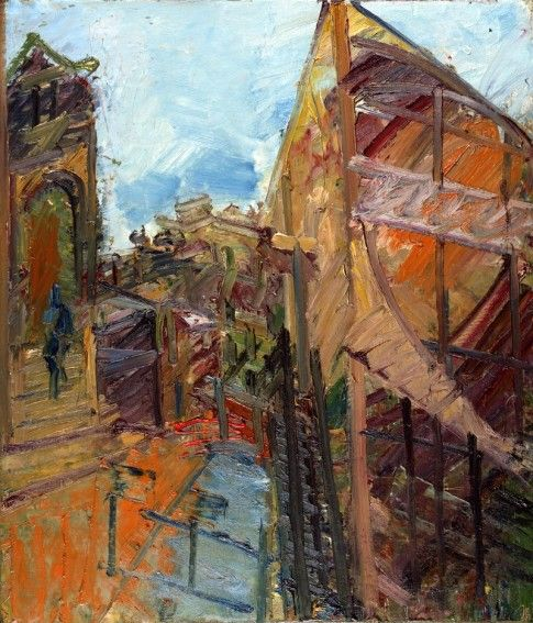 To The Studios, 1983, Frank Auerbach. British Painter, born in Germany. 1931.  www.artexperiencenyc.com