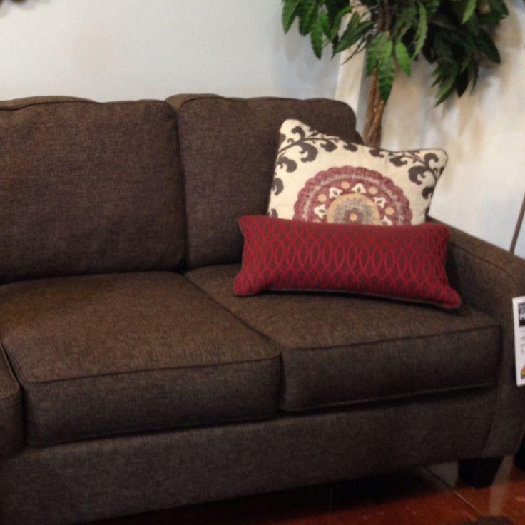 Dark Grey Couch With Beige Specks At Ashley Furniture Ashley
