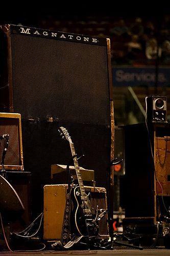 Neil's magnatone amp & ol' black
