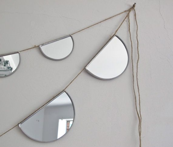 SALE / / / Mirror Bunting Small Half Circle Banner by fluxglass, $58.00