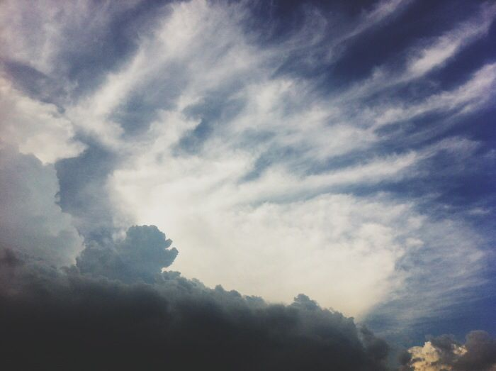 Skies, clouds, life before I met him - it's happy, simple and healthy. But I was never as happy till I met him, neither this depressed. Love, peculiar in its own ways.