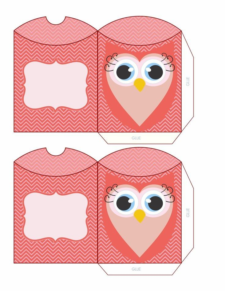 142 best images about box bag and tag printables on for Owl pillow box template