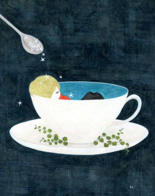 midnight, Hazuki Koike机上の空想 Midnight, Good Night, Midnight Hazuki Koike, Ha Pixiv, Teas, Sweets Dreams, Fine Art, Fine, Art Illustration