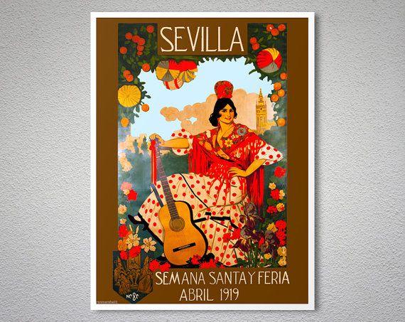 Sevilla Semana Santa Y Feria Abril 1919  Vintage Travel