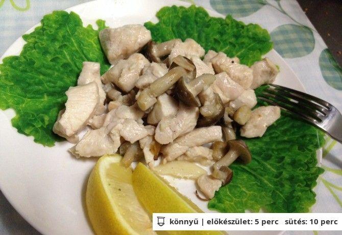 Gyors diétás gombás csirkemell