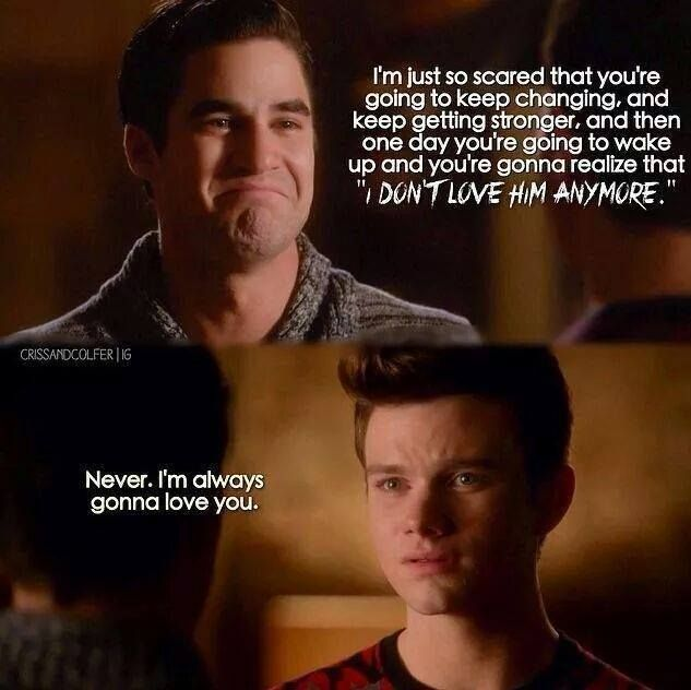 I think Kurt kept his promise even through Season 6. They never stopped loving each other. ❤️❤️