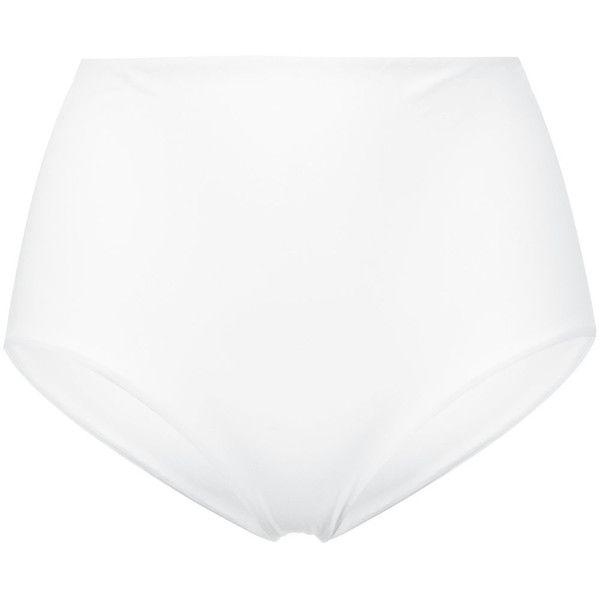 Ermanno Scervino high-waisted bikini bottoms (215 AUD) ❤ liked on Polyvore featuring swimwear, bikinis, bikini bottoms, white, high waisted bikini bottoms, bikini bottom swimwear, white bikini bottoms, highwaisted bikini bottoms and high rise bikini bottoms