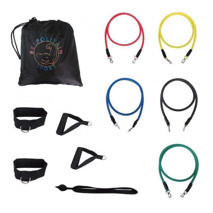 Resistance Band Set Yoga Fitness equipment Exercise Tubes Home Gym Pilates Bands #ResistanceBands