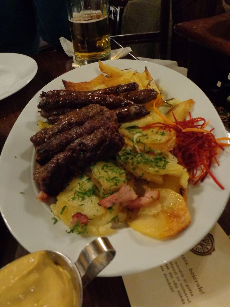Main platter with traditional Romanian food @ Restaurant Caru' cu bere