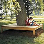 square wraparound tree bench - free plans, drawings & instructions