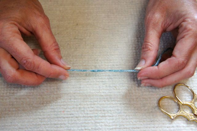 Tuesday Tip: Needle Felted Join. Discover a way to splice in a new ball when it's NOT an animal fiber!