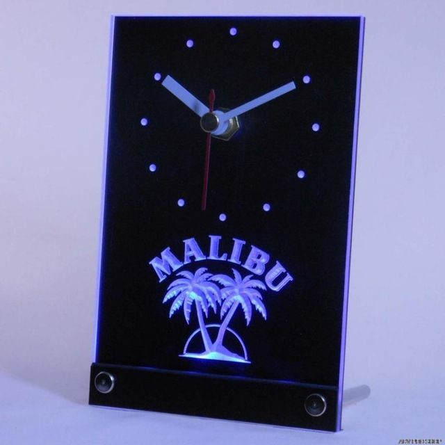 Promotion price tnc0126 Malibu Rum Bar Beer Pub Table Desk 3D LED Clock just only $14.49 with free shipping worldwide  #clocks Plese click on picture to see our special price for you