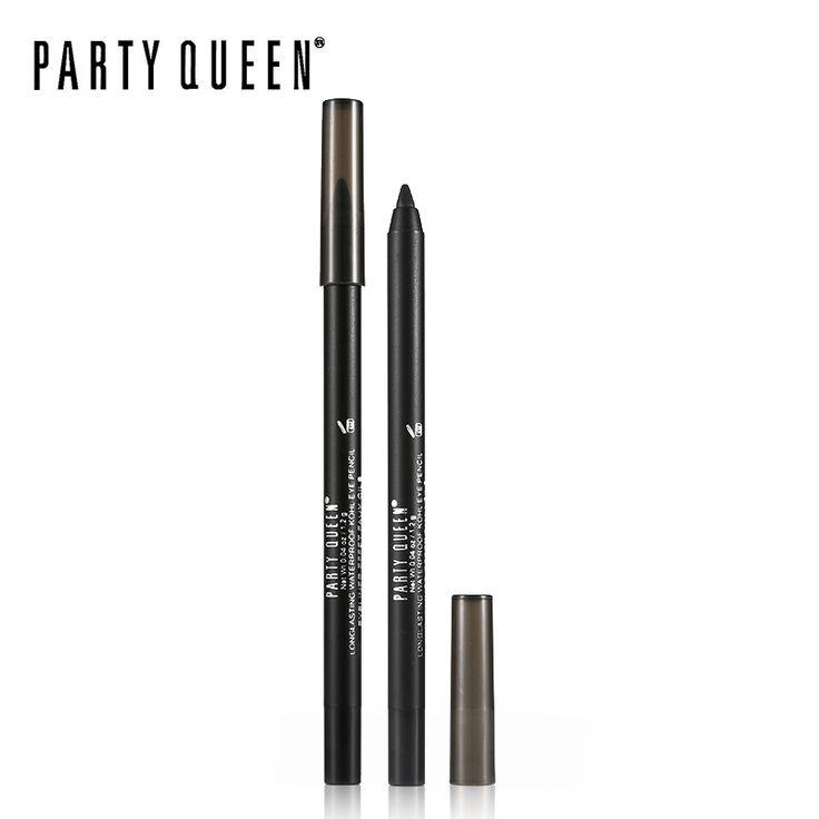 Party Queen Classic Kohl Delineador Lápiz Gel Suave Mate Ojo Negro Lápiz Delineador de ojos Maquillaje Resistente Al Agua Duradero Suave Impactante