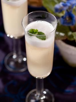White Cocktail ::  2 1/2 oz. Prosecco, 1 oz. Cachaca,   1 1/2 cup lemon sorbet (depending on how slushy you desire), 1 fresh mint leaf, garnish    Preparation:    Add lemon sorbet to a tall chilled fluted glass and pour in Cachaca and Prosecco. Stir gently and garnish with fresh mint.