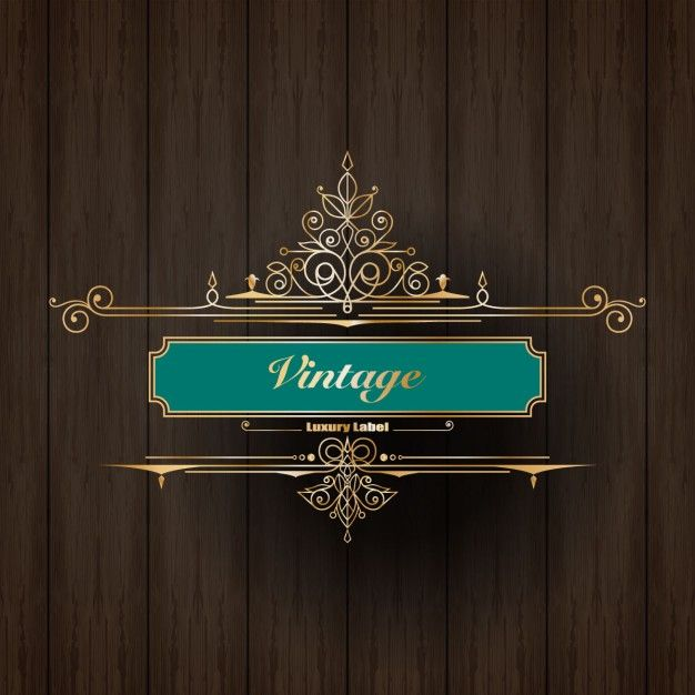 etiqueta do logotipo do ornamento do vintage de luxo Vetor grátis