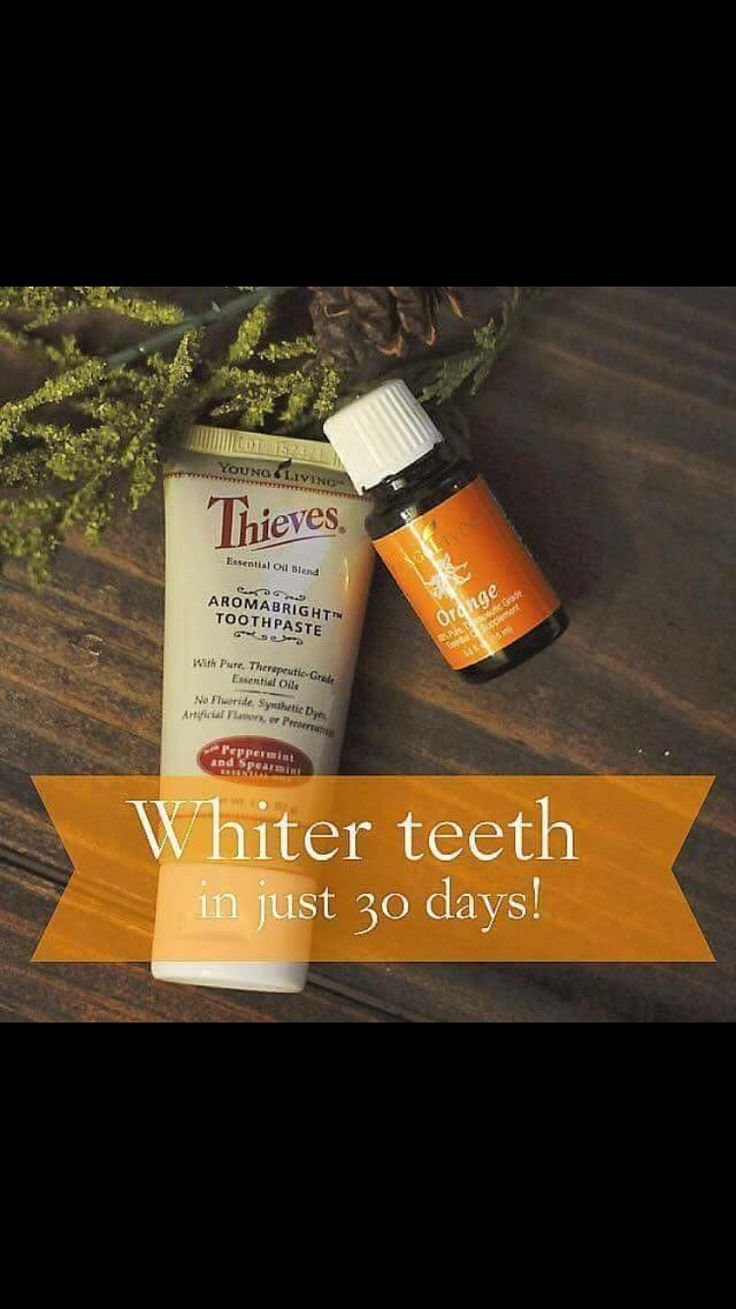 Young Loving Thieves Aromabright Toothpaste with a drop of orange essential oil with whiten and clean your teeth naturally   https://www.youngliving.com/signup/?site=US&sponsorid=3287465&enrollerid=3287465#sthash.5iX14nZm.dpuf