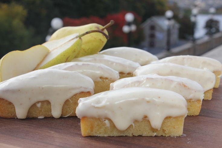 Pear Financiers with Brown Butter Icing