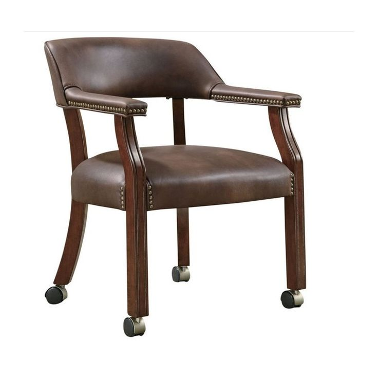 Found it at cymax.com - Coaster Traditional Office Chair with Nailhead Trim in Brown