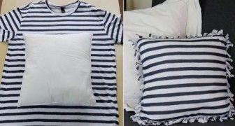 Ecco cosa RICICLARE le vecchie magliette in modo ingegnoso e SENZA CUCIRE