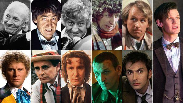 Doctor Who: The 11 regenerations of the Doctor include William Hartnell, Patrick Troughton, Jon Pertwee Tom Baker, Peter Davison, Colin Baker, Sylvester McCoy, Paul McGann, Christopher Eccleston, David Tennant and Matt Smith. (BBC)