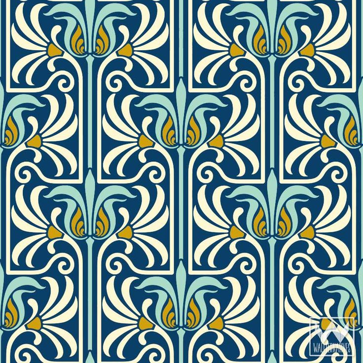 1000 Ideas About Art Nouveau Wallpaper On Pinterest