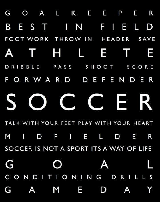 Soccer Wall Art - Personalized Prints - Modern Playroom Prints - Typography on Etsy, $18.00
