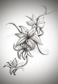 Image result for tiger lily tattoo designs