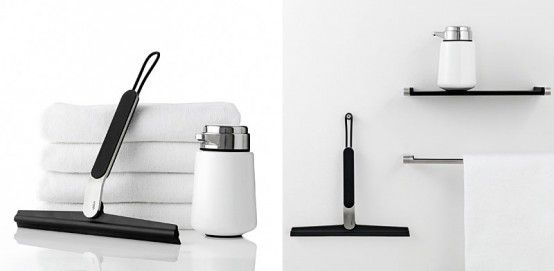 Danish company VIPP specializes in production of various cool bathroom accessories