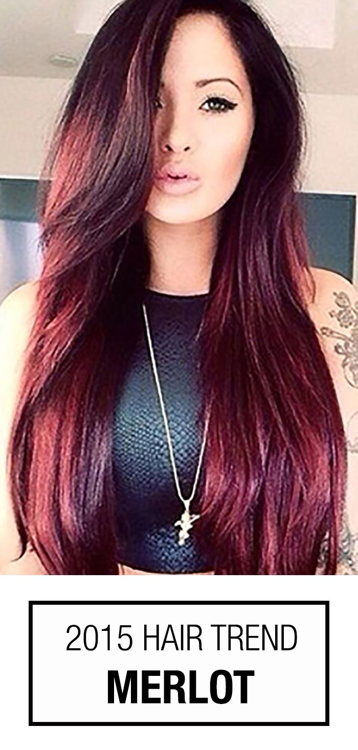 Wine red hair color is such a popular trend this season. The perfect blend of brown and red-violet hues? That would be merlot hair color!