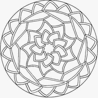 nine pointed star Mandalas Para Pintar: mandalas para pintar
