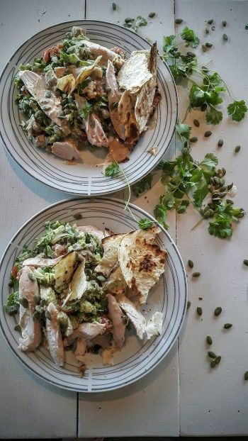 Mexican Smoked Chicken and Avocado Salad with Pepitas
