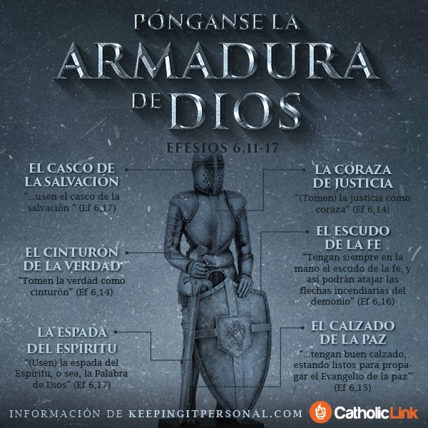 Ms de 25 ideas increbles sobre armadura de Dios en Pinterest